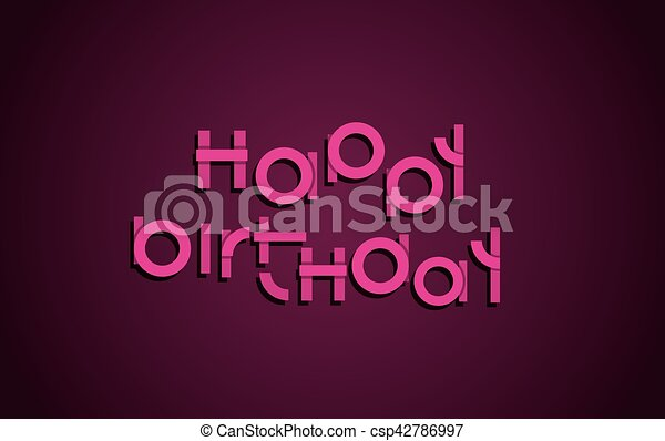 Happy birthday festive text dark background with light pink letters happy birthday festive text dark background with light pink letters banner design vector birthday greeting card illustration m4hsunfo