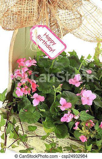 Happy Birthday Flowers Flower Arrangement