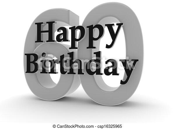 Happy Birthday For 60th Stock Illustration Csp16325965