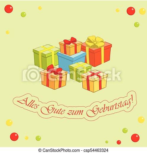 Happy birthday german light green vector greeting card happy birthday german light green vector greeting card m4hsunfo
