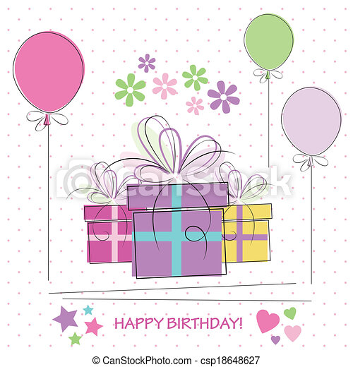 happy birthday gifts card csp18648627 - Happy Birthday Gift Card