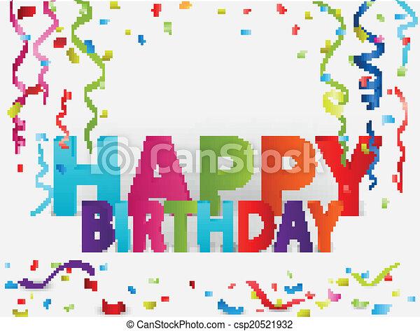 Vector Illustration Of Happy Birthday Greeting Background