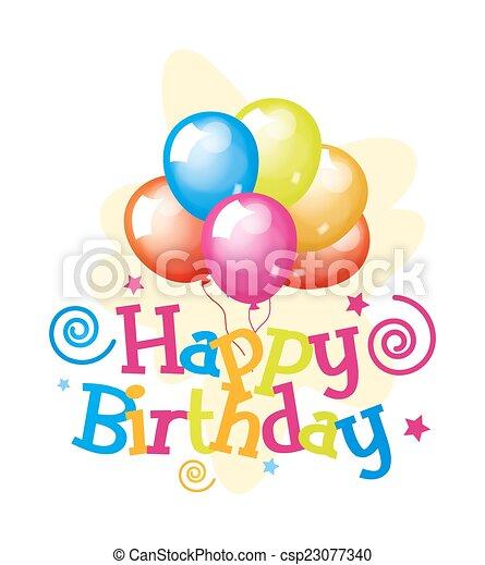 Happy Birthday Greeting Balloons