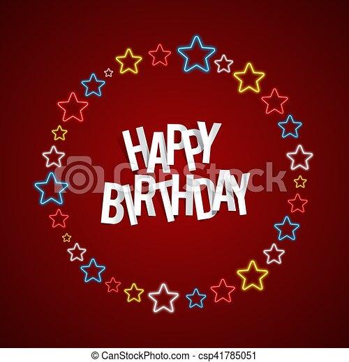 Happy Birthday Greeting Card On Background