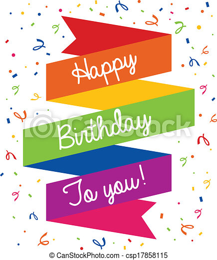 happy birthday greeting card happy birthday colorful vector clip rh canstockphoto co uk happy birthday wishes clipart birthday wishes clipart black and white