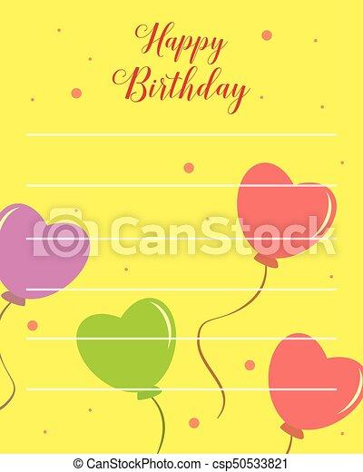 Happy birthday greeting card with yellow background vector art happy birthday greeting card with yellow background csp50533821 m4hsunfo