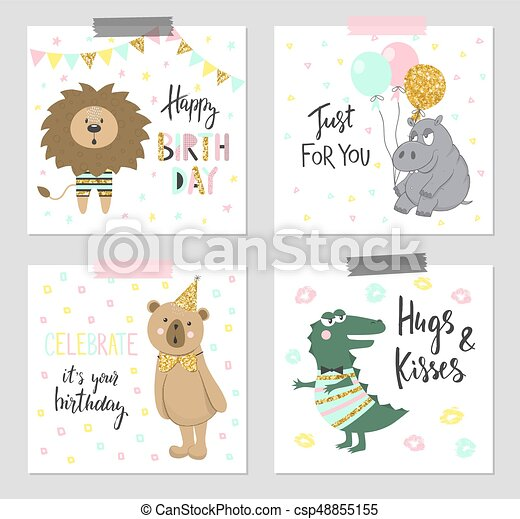 Happy Birthday Greeting Cards And Party Invitation Templates With
