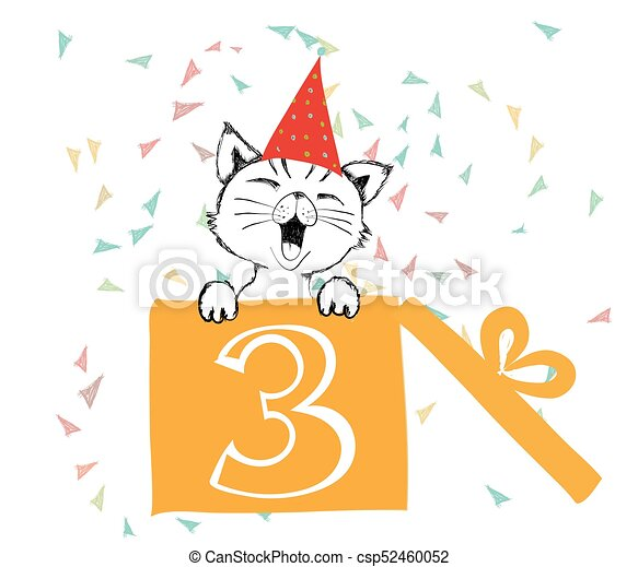 Happy birthday greetings cards hand drawn with a cute cat created happy birthday greetings cards hand drawn with a cute cat created with black ink pens for loving m4hsunfo