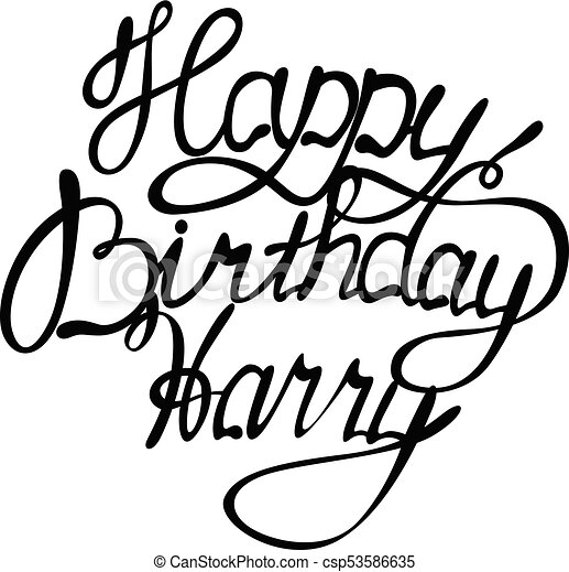 happy birthday harry name lettering vector happy birthday rh canstockphoto com birthday candles vector art happy birthday vector artwork
