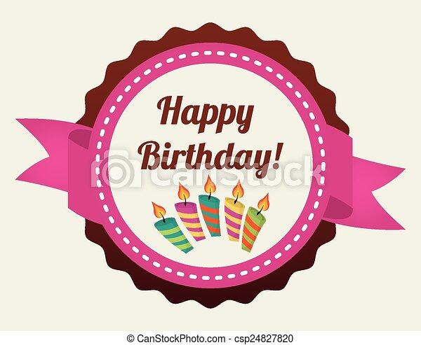 Happy Birthday Design Vector ~ Happy birthday design vector illustration eps10 graphic vector