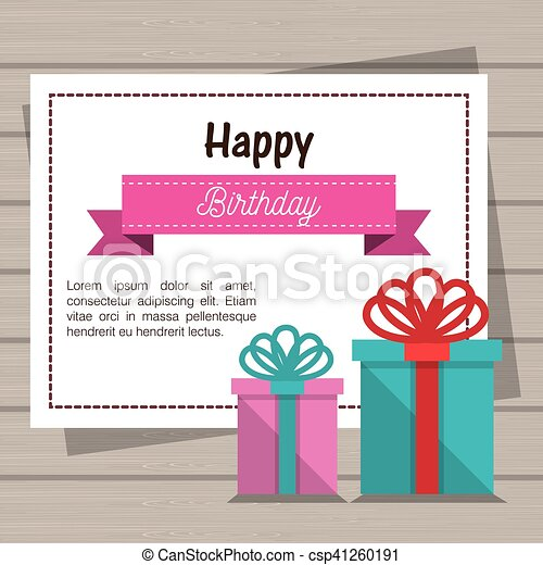 Happy birthday invitation card vector illustration design happy birthday invitation card csp41260191 stopboris Image collections