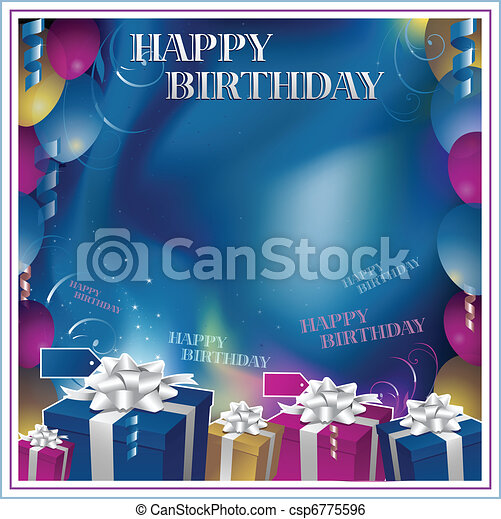 happy birthday invitation background