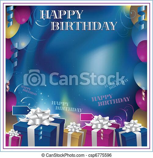Happy birthday invitation background clip art vector search happy birthday invitation background stopboris Choice Image