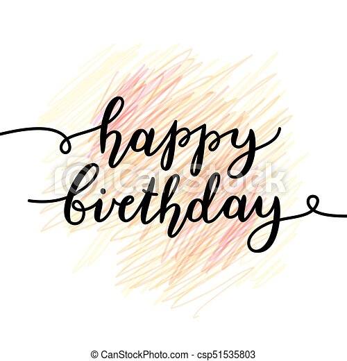 Happy birthday lettering Happy birthday vector lettering greeting