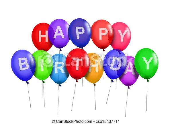 birthday party balloons Happy birthday party balloons. birthday party balloons