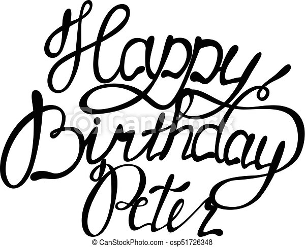 vector happy birthday peter name lettering eps vector search clip rh canstockphoto com happy birthday to my son clipart happy birthday son clipart free