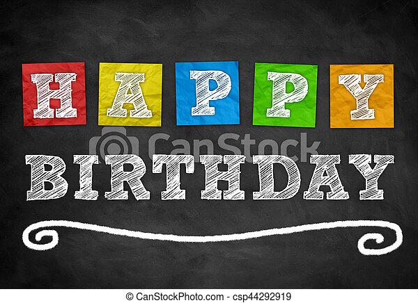 Happy Birthday - csp44292919
