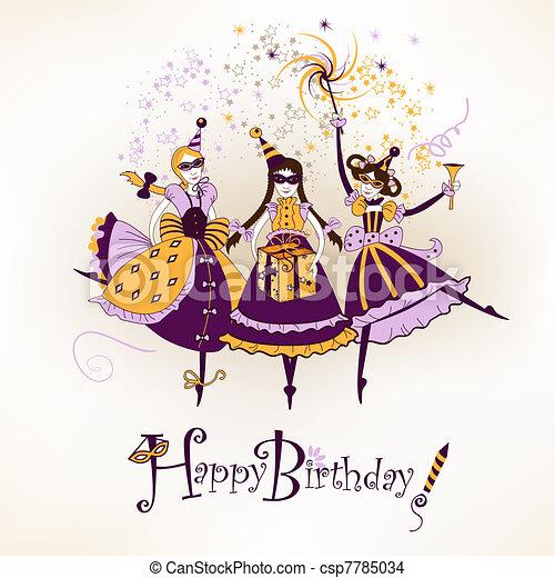 Happy birthday postcard - csp7785034