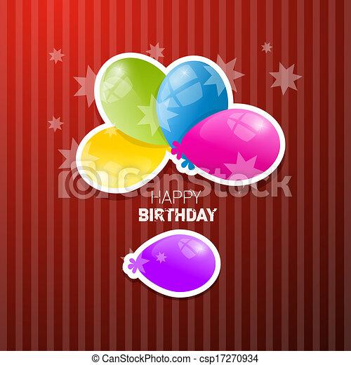 Happy Birthday Retro Background - csp17270934