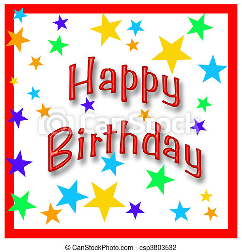 happy birthday star birthday poster illustration assorted colored