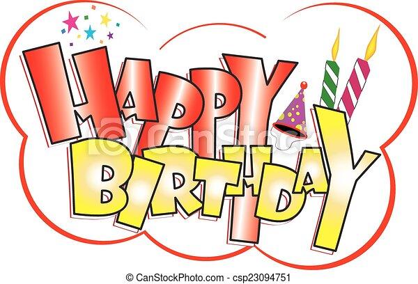 Happy birthday sticker csp23094751