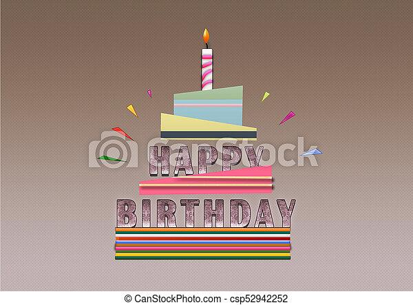 Happy Birthday Illustration Work In Photoshop