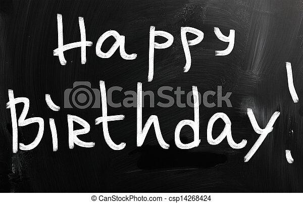 HAPPY BIRTHDAY - csp14268424
