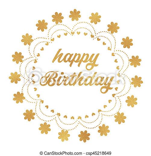 Happy Birthday - csp45218649