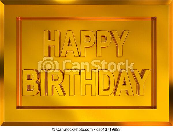 Happy Birthday - csp13719993