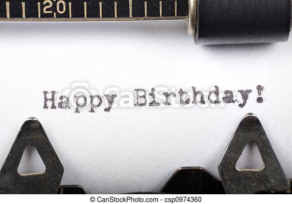 Happy Birthday - csp0974360