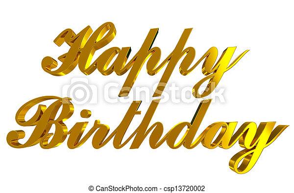 Happy Birthday - csp13720002