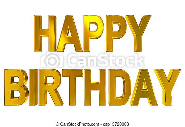 Happy Birthday - csp13720003