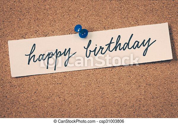 happy birthday - csp31003806