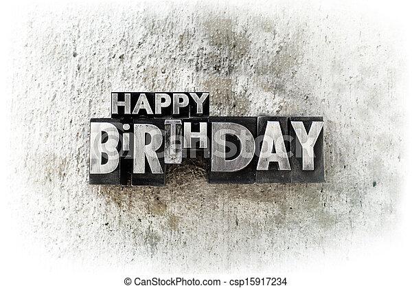 Happy Birthday - csp15917234