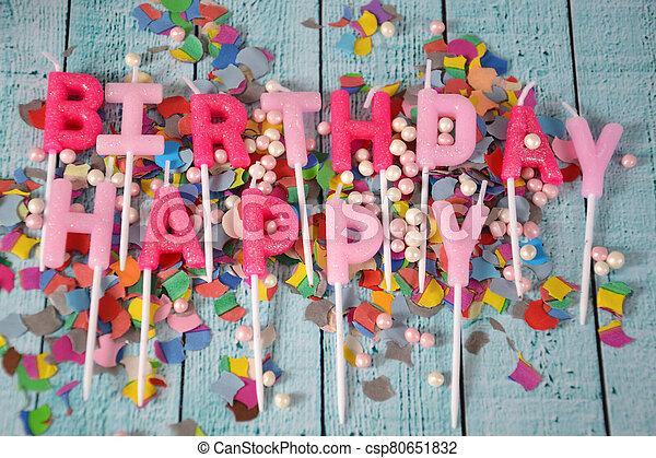 Happy Birthday - csp80651832