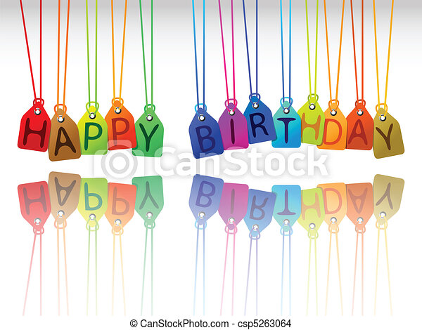 happy birthday tags - csp5263064
