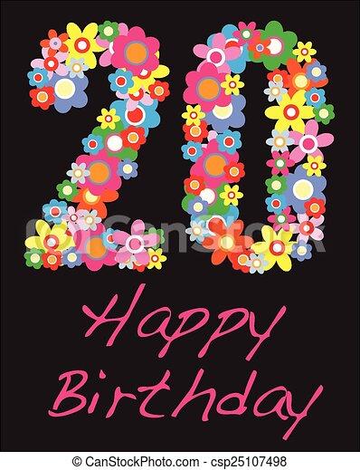 happy birthday number 20