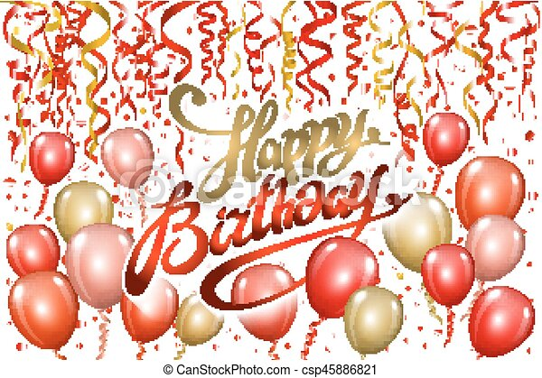 Happy Birthday Typography Vector Design For Greeting Cards And