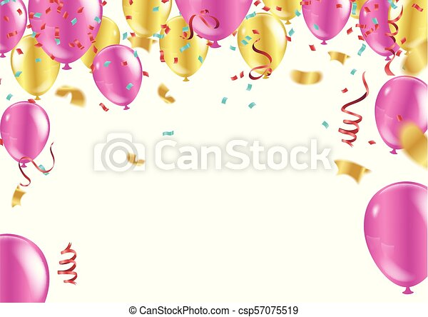 Happy Birthday Typography Vector Design For Greeting Cards And Poster With Colorful Balloon