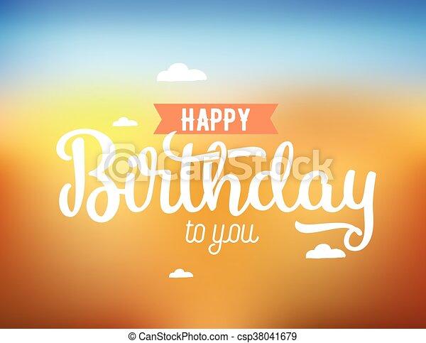 Happy Birthday Design Vector ~ Happy birthday typography. vector design. happy birthday vectors