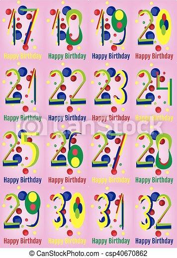 Happy Birthday Vector Card Set Happy Birthday Card Set Happy