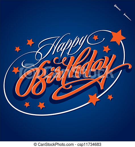HAPPY BIRTHDAY (vector) - csp11734683