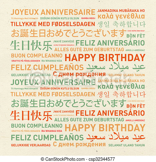 Happy Birthday Vintage Card From The World Happy Birthday From The