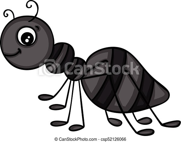 Cartoon black ants - photo#47
