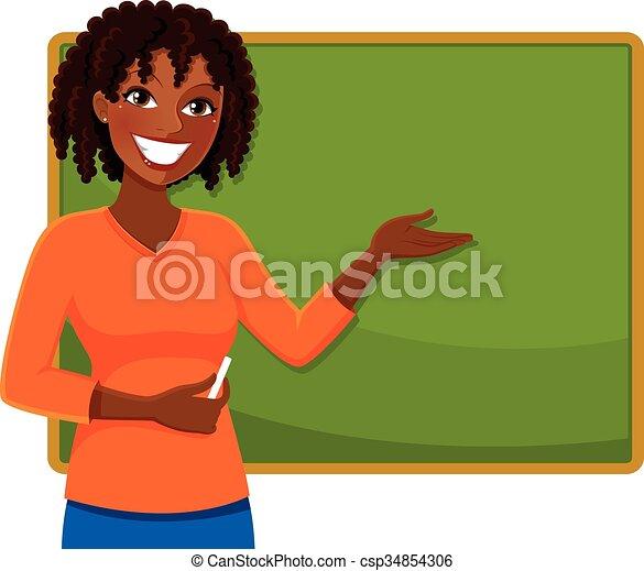 Happy Black Teacher Happy Teacher Of African Ethnicity