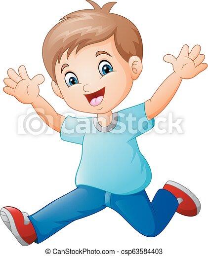 Happy boy cartoon - csp63584403