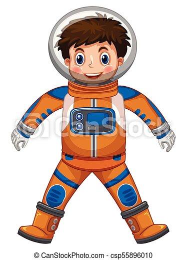 happy boy in astronaut costume illustration vector clip art search rh canstockphoto com