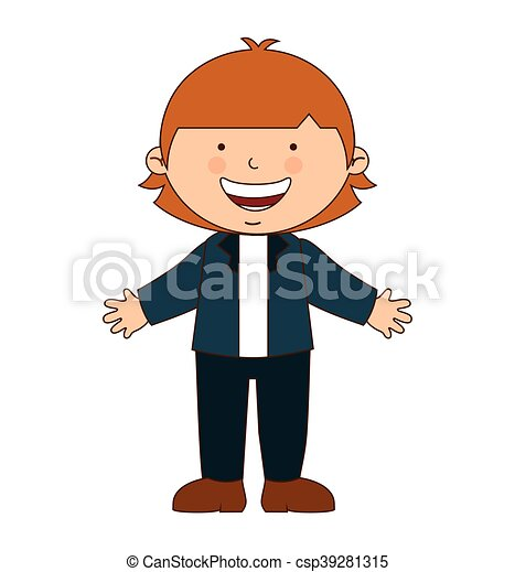 happy boy student uniform isolated vector illustration vector rh canstockphoto co uk