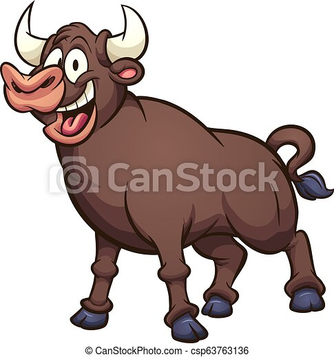 Happy bull - csp63763136