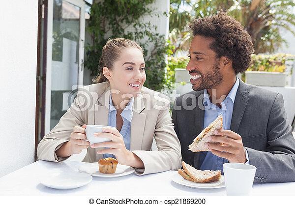 Happy business people  - csp21869200